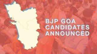 Goa Polls : List of BJP Goa Candidates Announced