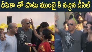 VIN DIESEL ARRIVES IN INDIA AT MUMBAI AIPORT WITH DEEPIKA PADUKONE : xXx Movie  Promotion