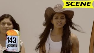 Dhansika and Friends Scared with a Strange Girl - 143 Hyderabad Movie Scenes