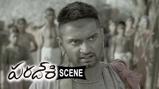 Atharva Making Fun With Villagers - Comedy Introduction - Paradesi Movie Scenes