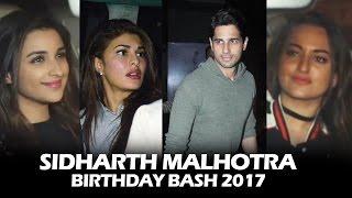 Sidharth Malhotra's GRAND BIRTHDAY BASH - Jacqueline, Parineeti, Sonakshi, Katrina Kaif