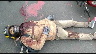 chinese maanjhe se kati motorcycle sawaar ki gardan maut