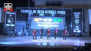 Creative DanceCrew (CDC) PODS2 Power of Desi Street 2 2016 Finals INDIA