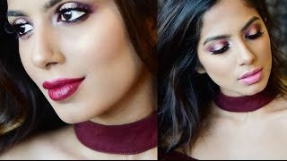 Cranberry Halo Eyes Valentine Day Makeup Tutorial l Brown/Tan/Indian skin