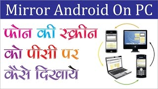 How to Mirror Android Phone on PC Easy Method हिंन्दी