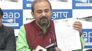 Aap Delhi Convener Briefs Media on Hostile Activities of Goa Administration Towards AAP