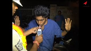 Drunk n Drive funny videos - Girls caught drunken by Hyderabad police - Night life hyderabad