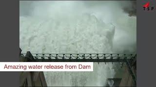 Water release from Dam - Srisailam dam - Andhra pradesh, India