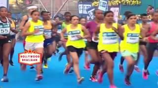 Standard Chartered Mumbai Marathon 2017 Flag Off by John Abraham 2017
