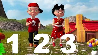 1 2 3 Song For Kids - Numbers Learning Song For Childrens - New 1 2 3 Song - TSP Kids Rhymes