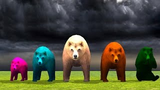 Colour Bear Animated Rhymes For Kids - Funny Children Nursery Rhymes - TSP Kids Rhymes