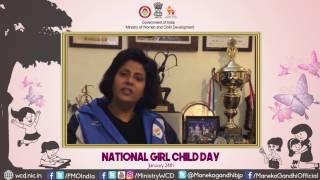 Deepa Malik's message on National Girl Child Day