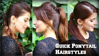 3 CUTE & EASY Everyday Hairstyles With Ponytails For School,College,Work/ Priyanka Chopra Hairstyle