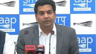 Aap leader Kapil Mishra Briefs Media on 2,000 crore MCD pension scam