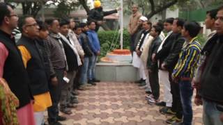 Aam Aadmi Party Hoisted the National Flag at Party Office on the Occasion of Republic Day