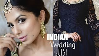 *CLASSY* Indian Wedding Guest Makeup l Hair Using ONLY DRUGSTORE Products