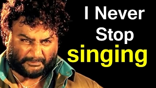 I Never Stop Singing - Huchcha Venkat  Huchcha Venkat  about his singing Top Kannada TV