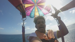 Water Ski & Paragliding - Water Sports Adventures Mauritius Vlogs Day 2