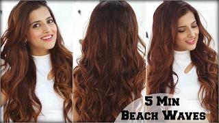 How To: 5 Min Voluminous Beachy Waves Hair Tutorial Using A Curling Wand For Medium To Long Hair