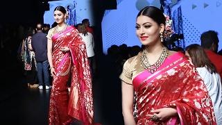 KAABIL Girl Urvashi Rautela In Saree At Lakme Fashion 2017 - KAABIL