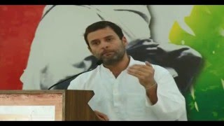 Congress VP Rahul Gandhi on Weaker Sections of Society