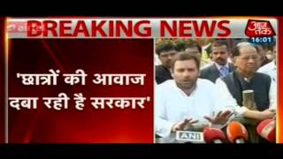They are suppressing the voice of Indian students : Rahul Gandhi