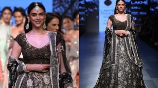 Aditi Rao Hydari Walks On Ramp For The Kotwara Label At Lakme Fashion Week 2017