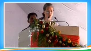Smt. Sonia Gandhi speaking at Dr. B R Ambedkar's 125th Birth Anniversary celebration in Nagpur