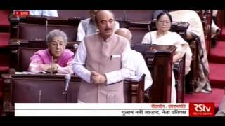 Ghulam Nabi Azad Speech in Rajya Sabha, 25 April 2016