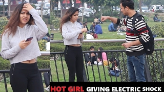 HOT Girls Giving Electric SHOCK Prank ( Pranks In India)