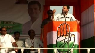 Congress VP Rahul Gandhi addresses public rally in Bardhaman, Durgapur, West Bengal, April 2, 2016