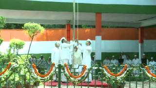 Congress vice  President Rahul Gandhi Unfurled The National Flag At The AICC Headquarters