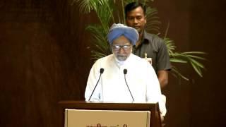 Former PM Manmohan Singh speaking at Rajiv Gandhi National Sadbhavana Awards event