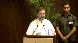 Rahul Gandhi speaking at Rajiv Gandhi National Sadbhavana Awards