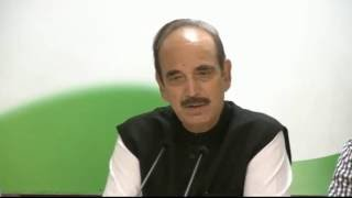 AICC Press Conference Addressed By Ghulam Nabi Azad | August 29, 2016