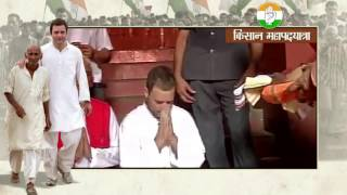 Congress Vice President Rahul Gandhi offers prayers at Dugdheshwar Nath temple in Rudrapur (U.P)