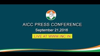 AICC Press Briefing By Abhishek Singhvi at Congress HQ. September 21, 2016