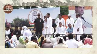 Congress VP Rahul Gandhi interacting with Farmers at a 'Khat Sabha' in Mirzapur (UP)