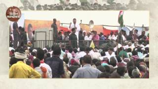 Congress VP Rahul Gandhi interacting with Farmers at a 'Khat Sabha' in Marihan,Mirzapur (UP)