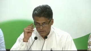 AICC Press Briefing By Manish Tewari at Congress HQ. October 17, 2016
