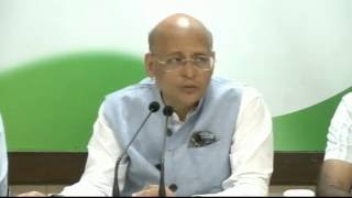 AICC Press Briefing By Abhishek Singhvi at Congress HQ. October 19, 2016