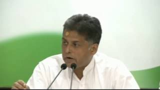 AICC Press Briefing By Manish Tewari at Congress HQ. October 26, 2016