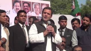 DeMonetisation decision is like spear in the hearts of the poor people: Congress VP Rahul Gandhi