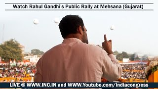 LIVE : Rahul Gandhi's Public Rally at Mehsana, Gujarat