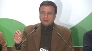 AICC Press Briefing By Shri Randeep Surjewala at Congress HQ. December 31, 2016