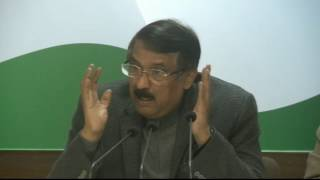 AICC Press Briefing by Tom Vadakkan at Congress HQ, January 26, 2017
