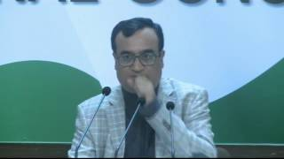 AICC Press Briefing by Ajay Maken at Congress HQ, January 29, 2017
