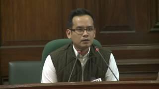 AICC Press Briefing by Gaurav Gogoi at Parliament House, February 7, 2017