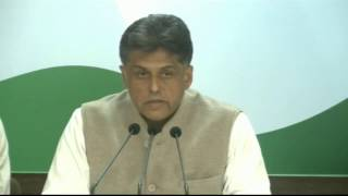 AICC Press Briefing by Manish Tewari at Congress HQ, February 13, 2017