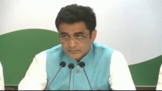 AICC Press Briefing by Ajoy Kumar at Congress HQ, February 15, 2017